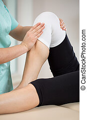 Paciente tras lesión de rodilla