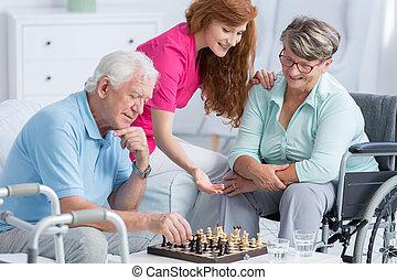 Pacientes mayores con problemas de caminar