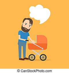 Padre cuida al niño