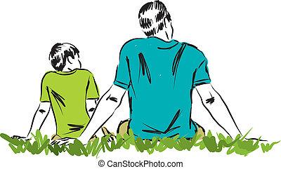 Padre e hijo ilustración 3