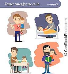 Padre se preocupa por el niño