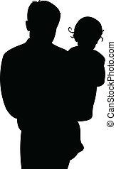 Padre y niña juntos
