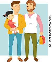 Padres homosexuales con su hija