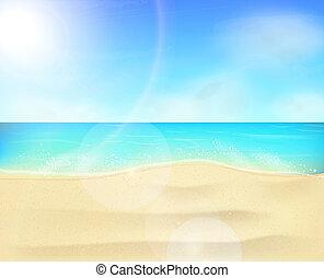 Paisaje costero de playa