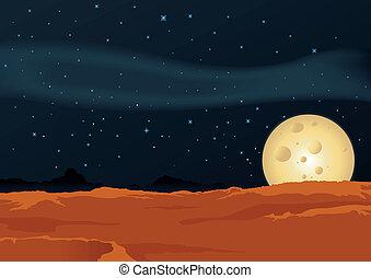 paisaje lunar, desierto