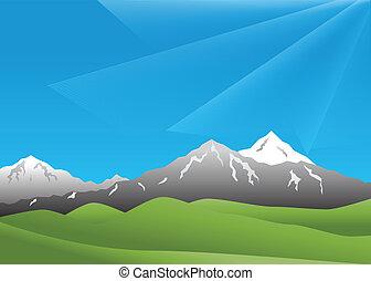 paisaje, montañas