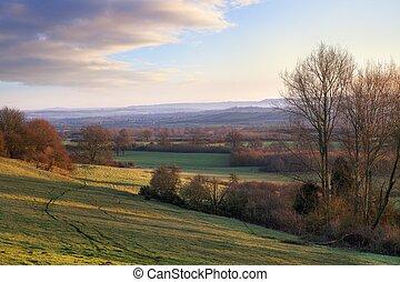 paisaje rural, inglés
