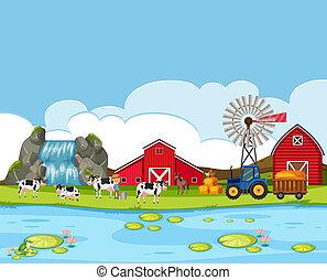 paisaje rural, tierras labrantío