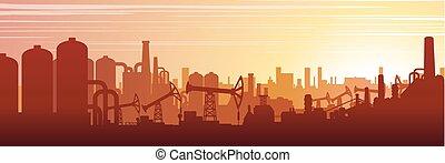 Paisaje urbano industrial. Imágenes de vector