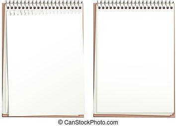 Pajas de papel en blanco