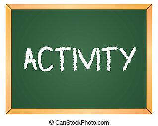 Palabra de Actividad sobre tiza