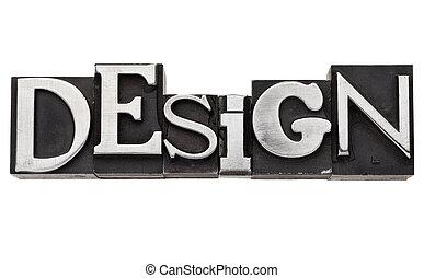 Palabra de diseño en tipo metal