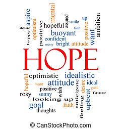 Palabra de esperanza concepto de nube