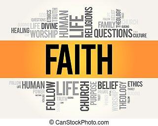Palabra de fe collage nube
