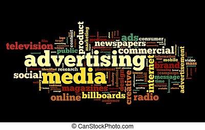 Palabra de publicidad en tag Cloud