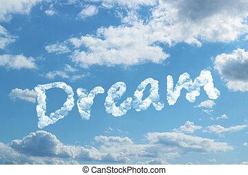 Palabra de sueño en nube