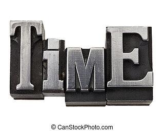 Palabra de tiempo en tipo metal