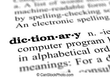 Palabra diccionaria del diccionario