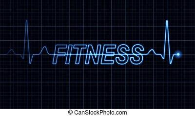 palabra, electrocardiograma, condición física