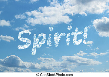 palabra, espíritu, nube