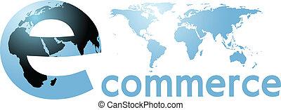 palabra, global, internet, tierra, mundo, ecommerce