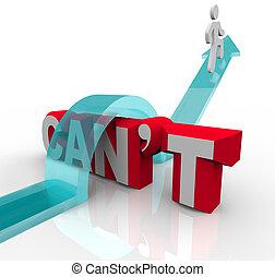 palabra, meta, éxito, encima, persona, can't, montañismo, lograr