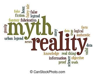 palabra, mito, nube, realidad