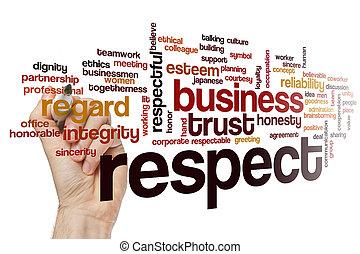 palabra, nube, concepto, respeto