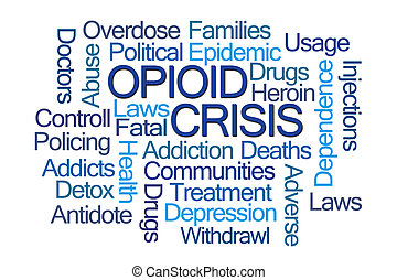 palabra, nube, crisis, opioid