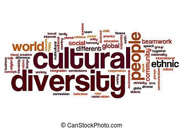 palabra, nube, cultural, diversidad