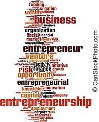 palabra, nube, entrepreneurship