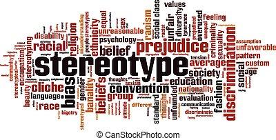 palabra, nube, estereotipo
