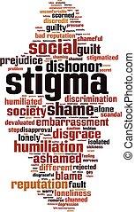 palabra, nube, estigma