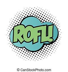 palabra, nube, expresión, taponazo, estilo, relleno, rofl, arte