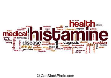palabra, nube, histamine