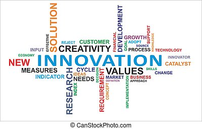 palabra, -, nube, innovación