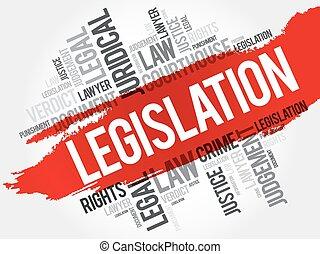 palabra, nube, legislación
