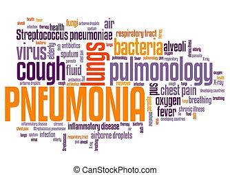 palabra, nube, pneumonia