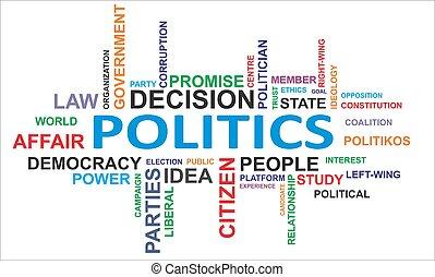 palabra, -, nube, política