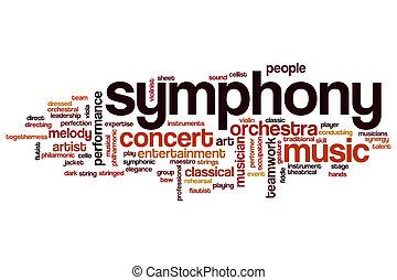palabra, nube, sinfonía