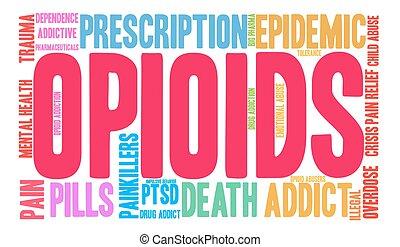 palabra, opioids, nube