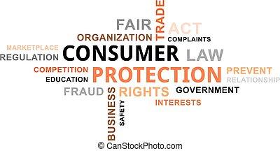 palabra, protección, -, consumidor, nube