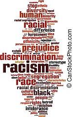 palabra, racismo, nube