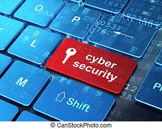 palabra, render, botón, teclado, cyber, plano de fondo, llave, entrar, seguridad, icono, computadora, concept:, 3d