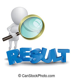 "palabra, ""result"", persona, mirar, vidrio, aumentar, 3d"