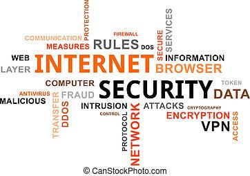 palabra, seguridad, -, nube, internet