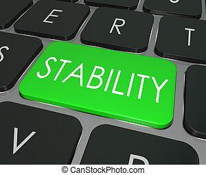 palabra, seguro, seguro, opción, estabilidad, llave computadora, teclado
