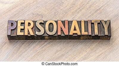 palabra, tipo, madera, personalidad