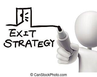 Palabras de estrategia de salida escritas por 3D