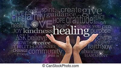 palabras, infinito, curación